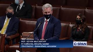 "House republican leader kevin mccarthy: ""i believe impeaching the president in such a short time frame would be mistake...that doesn't mean i..."