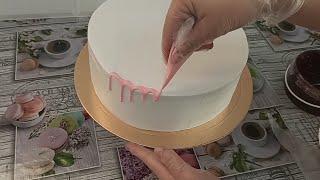ПОПРОБУЙТЕ украсить так торт Смотрится очень ЭФФЕКТНО