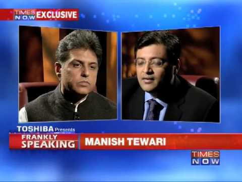 Frankly Speaking with Manish Tewari  (Part 1 of 3)