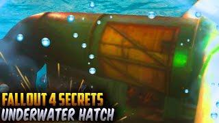 Fallout 4 Secrets - Underwater HATCH - Message in a Bottle Loot Fallout 4 Secrets