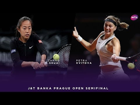 Zhang Shuai vs. Petra Kvitova | 2018 J&T Banka Prague Open Semifinal | WTA Highlights