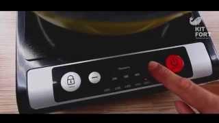 Электрическая настольная плита Kitfort KT-107 видео