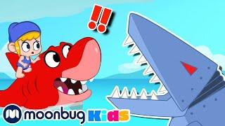 My Magic Pet Morphle - ROBOT SHARKS! | Morphle Full Episodes | Cartoons For Kids | Moonbug Kids