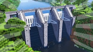 How To Build a WATER DAM in Minecraft (CREATIVE BUILDING)