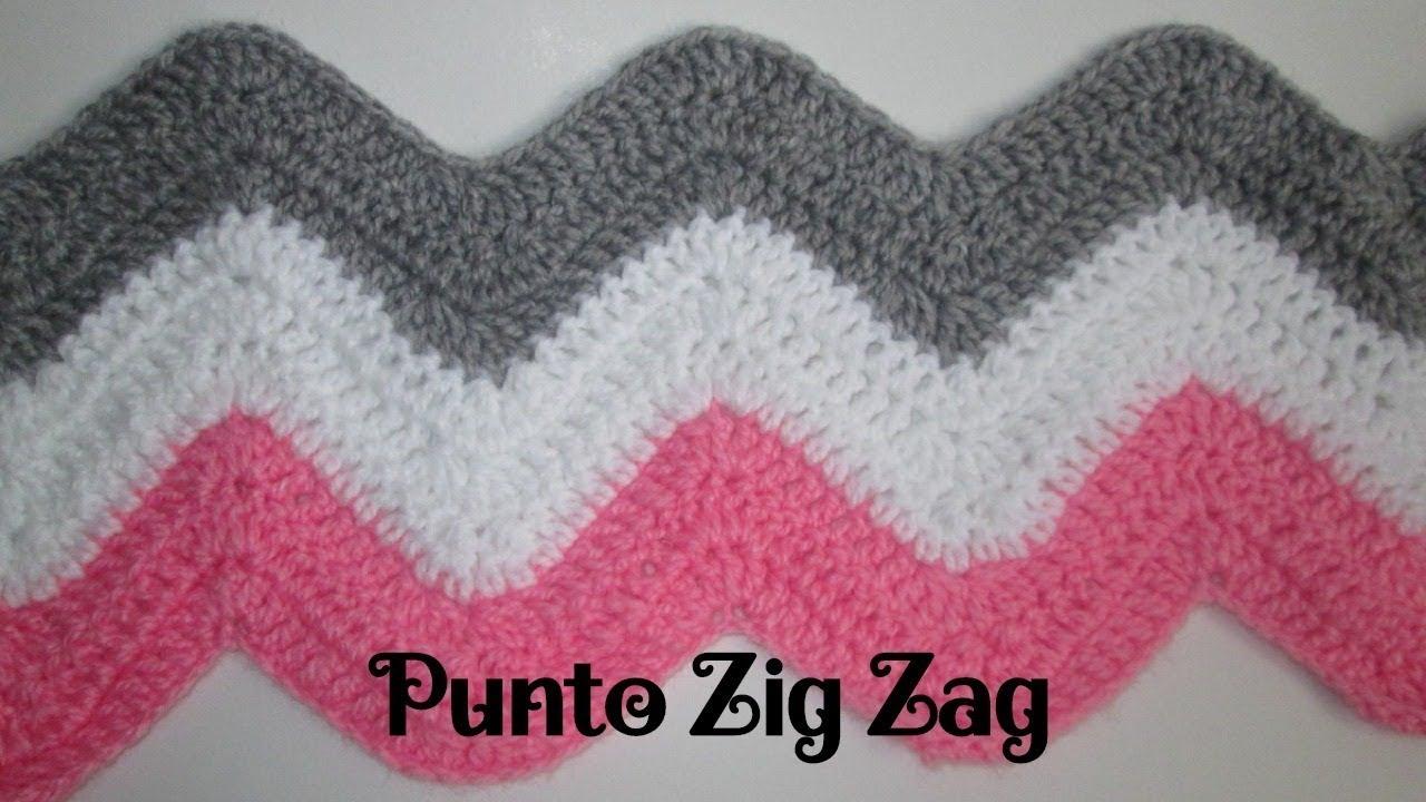 Cómo Hacer el Punto ZIG ZAG a Crochet - Muy Fácil - YouTube