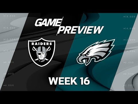 Oakland Raiders vs. Philadelphia Eagles | NFL Week 16 Game Preview | NFL Total Access