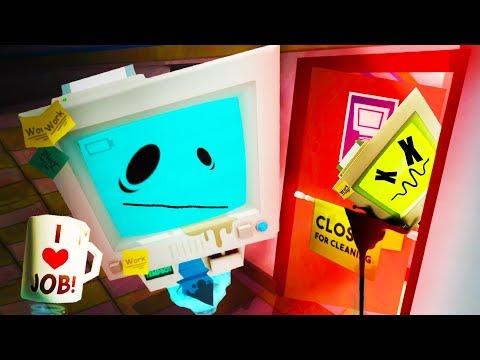 WHAT DID TEMP BOT DO!?!! HACKING JOB SIM!! (Job Simulator VR HTC Vive)