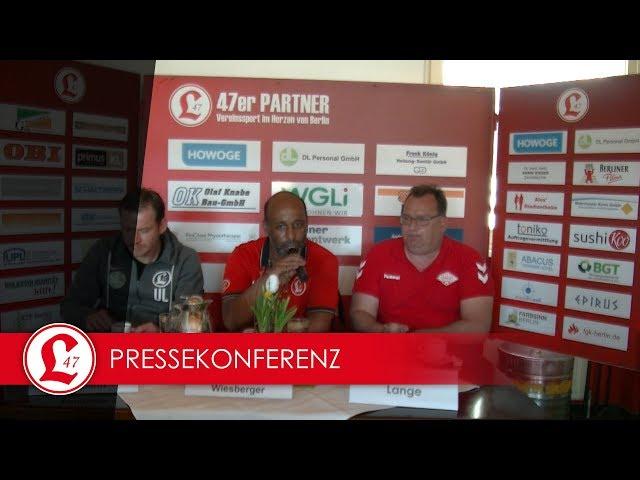 Oberligateam: Pressekonferenz nach dem Spiel Lichtenberg 47 – Malchower SV