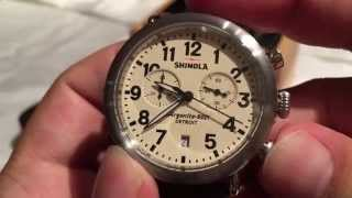 Shinola Runwell Chrono 41mm cream with brushed steel chronograph Watch review