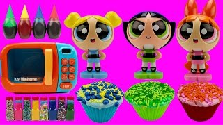Powerpuff Girls MAGIC Microwave LEARN COLORS Mix Cupcakes Helps Toddlers Learn Colours