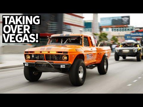 Race Trucks Take Over Vegas Streets! Mint 400 Street Parade