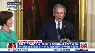 "W Cries & Laura Bush Adds ""This House Belongs To Those Who Will Never Have A Portrait Here"""