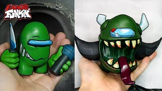 [FNF] Making Green Impostor V3 Sculpture Timelapse [Among us] - Friday Night Funkin' Mods
