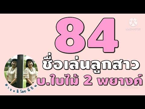 84 ชื่อลูกสาว 2 พยางค์ ขึ้นด้วย บ.ใบไม้ #ตั้งชื่อลูกสาว