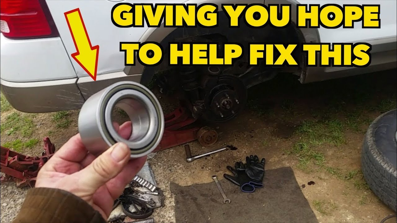 Rear Wheel Bearing Replacement    UGH!!! It fought back! 2004 Explorer