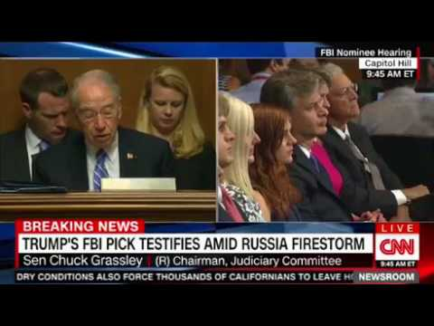 Trump's pick for FBI director Christopher Wray testifies before Congress