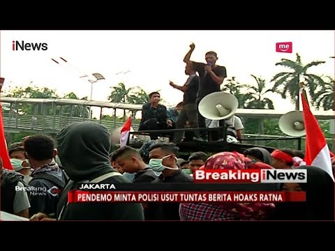 Mahasiswa Gelar Unjuk Rasa Minta Polisi Usut Tuntas Kasus Hoaks Ratna - Breaking iNews 04/10