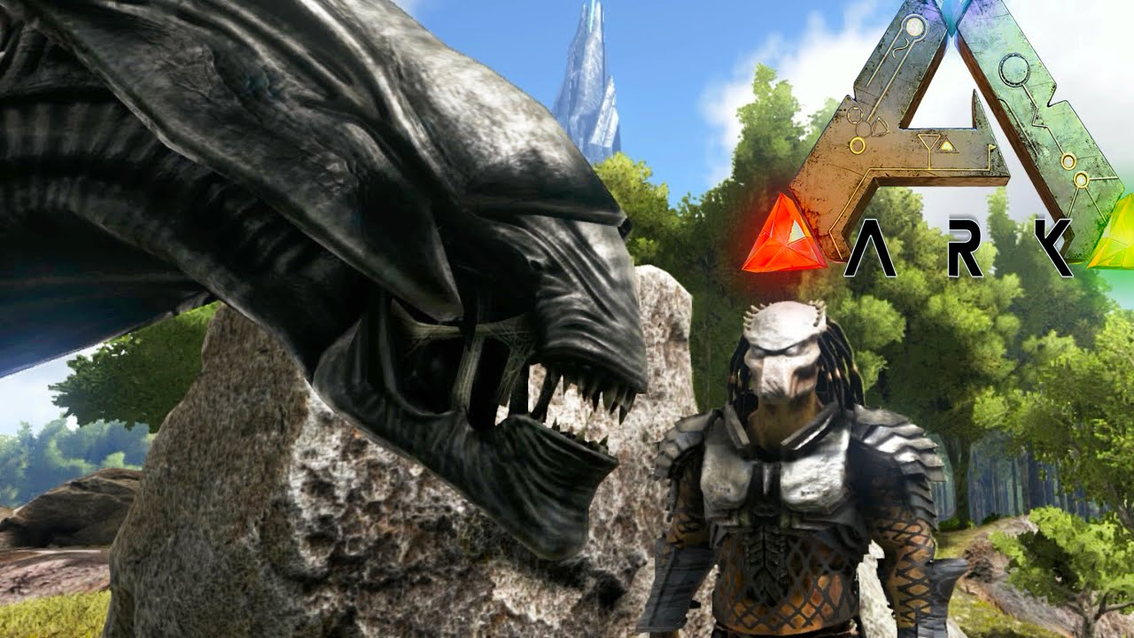 Ark Survival Evolved Xenomorph Queen Vs Predator In Ark Ark