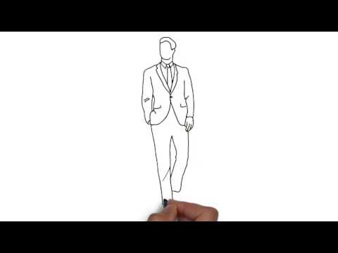 How To Draw Man In Suit Youtube
