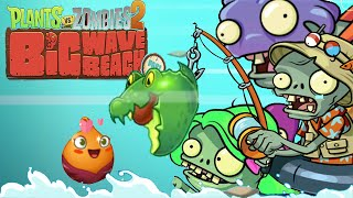 Plants Vs Zombies 2: Banana Launcher,Guacodile, Sweet Potato, Fisherman Zombie - Day 29