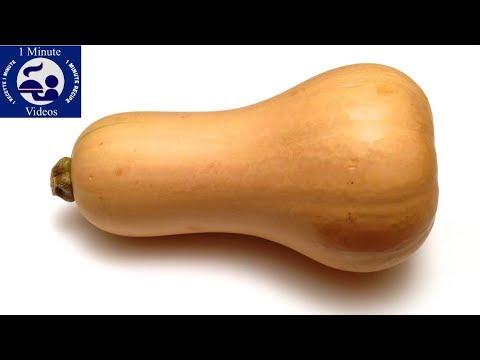 Comment peler p piner et couper une courge butternut musqu e utiliser cuisiner youtube - Comment cuisiner les butternuts ...