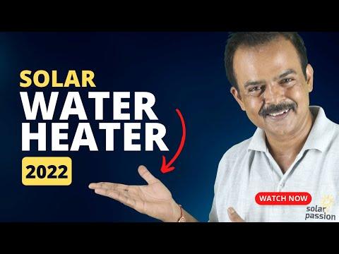 Solar water heater working - सोलर वॉटर हीटर कैसे काम करता है