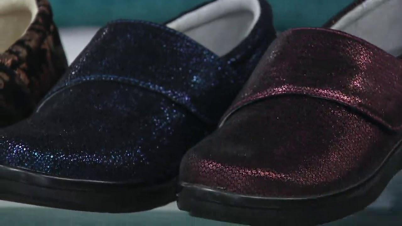 Alegria Printed Nubuck Slip-On Shoes