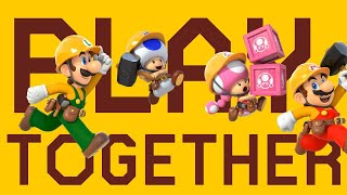 Playing with Friends! Super Mario Maker 2!