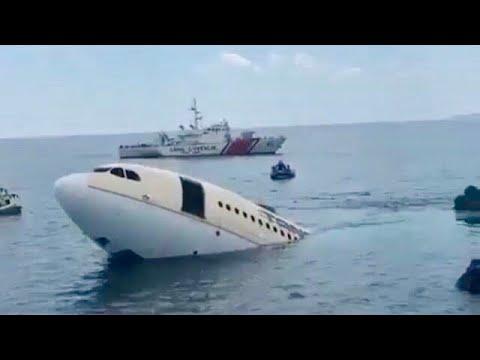 Plane Sinks Underwater