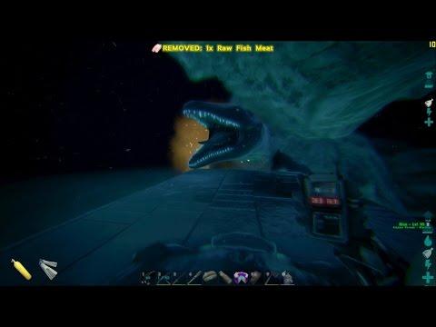 ARKeologist's Digest: Farming the  Alpha Mosasaurus for Black Pearls (ARK Survival Evolved)