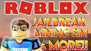 🌎🎮 Roblox | 🔴 Live Stream #88 | PLAYING JAILBREAK, MINING SIMULATOR & MORE! | 🎮 🌎