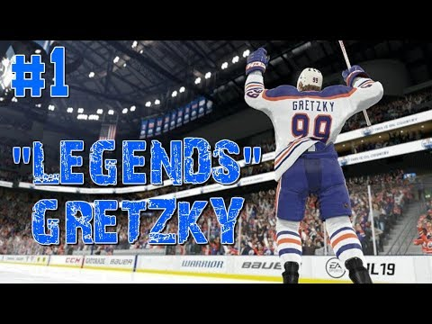 "NHL 18 ""CAN GRETZKY WIN A STANLEY CUP?"" LEGENDS #1"