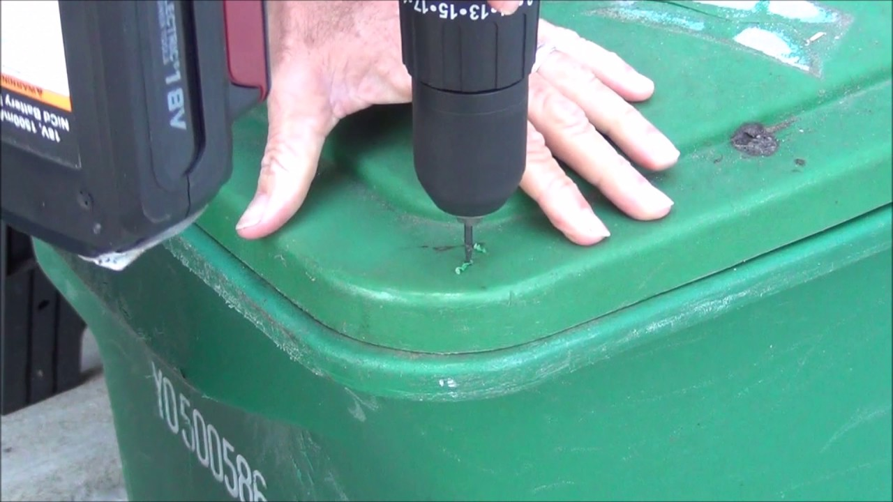 How To Make Toter Trash Can Bear Resistant Youtube