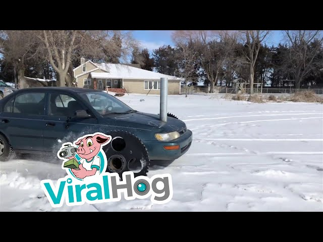 Special Snow Tires for Extra Traction || ViralHog