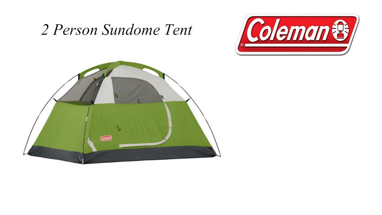 Coleman - 2 Person - Sundome Tent - MoLotto P4P - Unboxing u0026 Set Up - YouTube  sc 1 st  YouTube & Coleman - 2 Person - Sundome Tent - MoLotto P4P - Unboxing u0026 Set ...