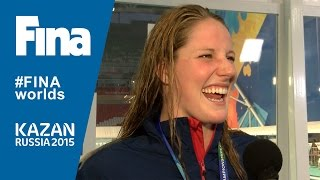 Missy Franklin: member of the winning team of Mixed 4x100m Free Relay (WR) in Kazan (RUS)