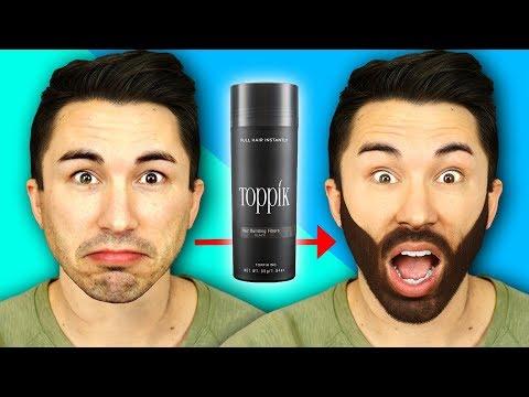 Men Try Spray-On Hair - Toppik Hair Transformation