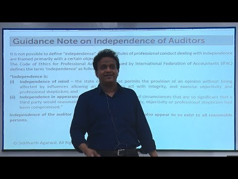 Independence Of Auditors (Guidance Note Explained) | Siddharth Agarwal