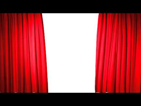 Stage red curtain opening sequence