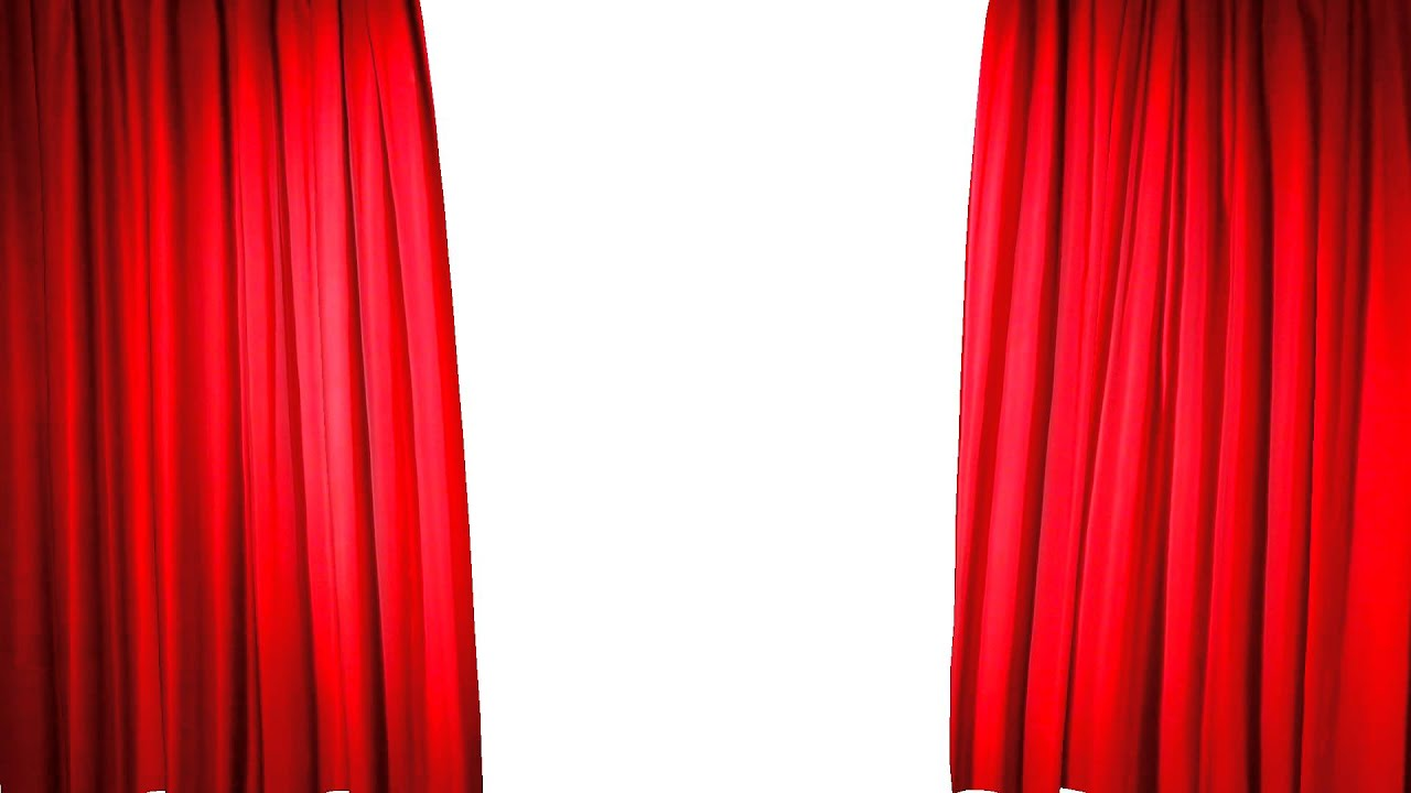 Stage red curtain opening sequence - YouTube