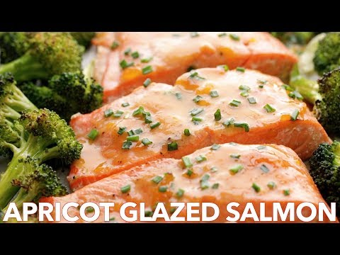 Honey Glazed Baked Salmon Recipe  (One Pan Meal)