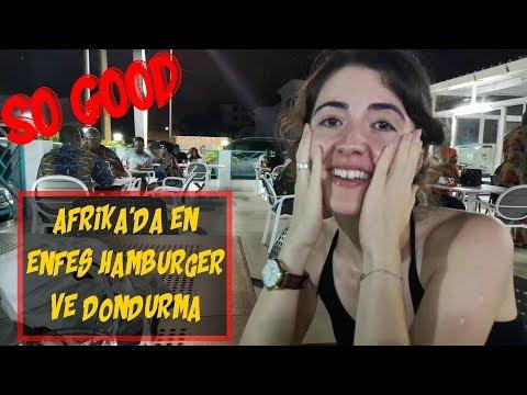Afrika'da Hamburger ve Italyan dondurmasi denemek!  Summer vacation in Benin!非洲贝宁