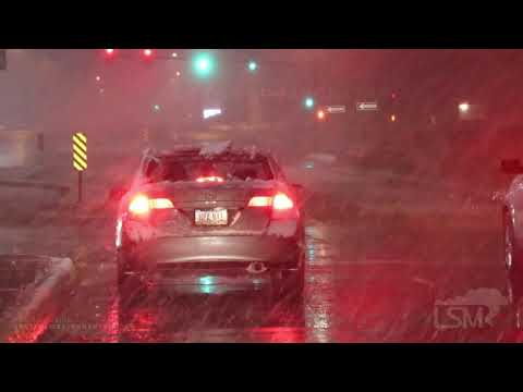 10-29-2019 Cedar Rapids, Iowa - Late Autumn Heavy Snow Showers