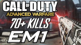Advanced Warfare: 70+ Kills!! With the EM1?? (COD AW Multiplayer Gameplay)