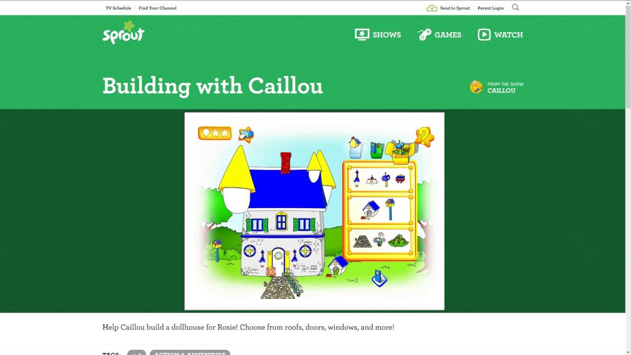 Caillou Episode 1: Building with Caillou