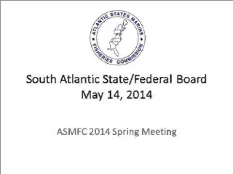 ASMFC South Atlantic Board May2014