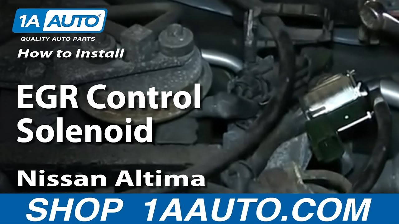How To Install Replace Egr Control Solenoid 1998 01 Nissan Altima Switch Wiring Diagram 2005 24l Youtube