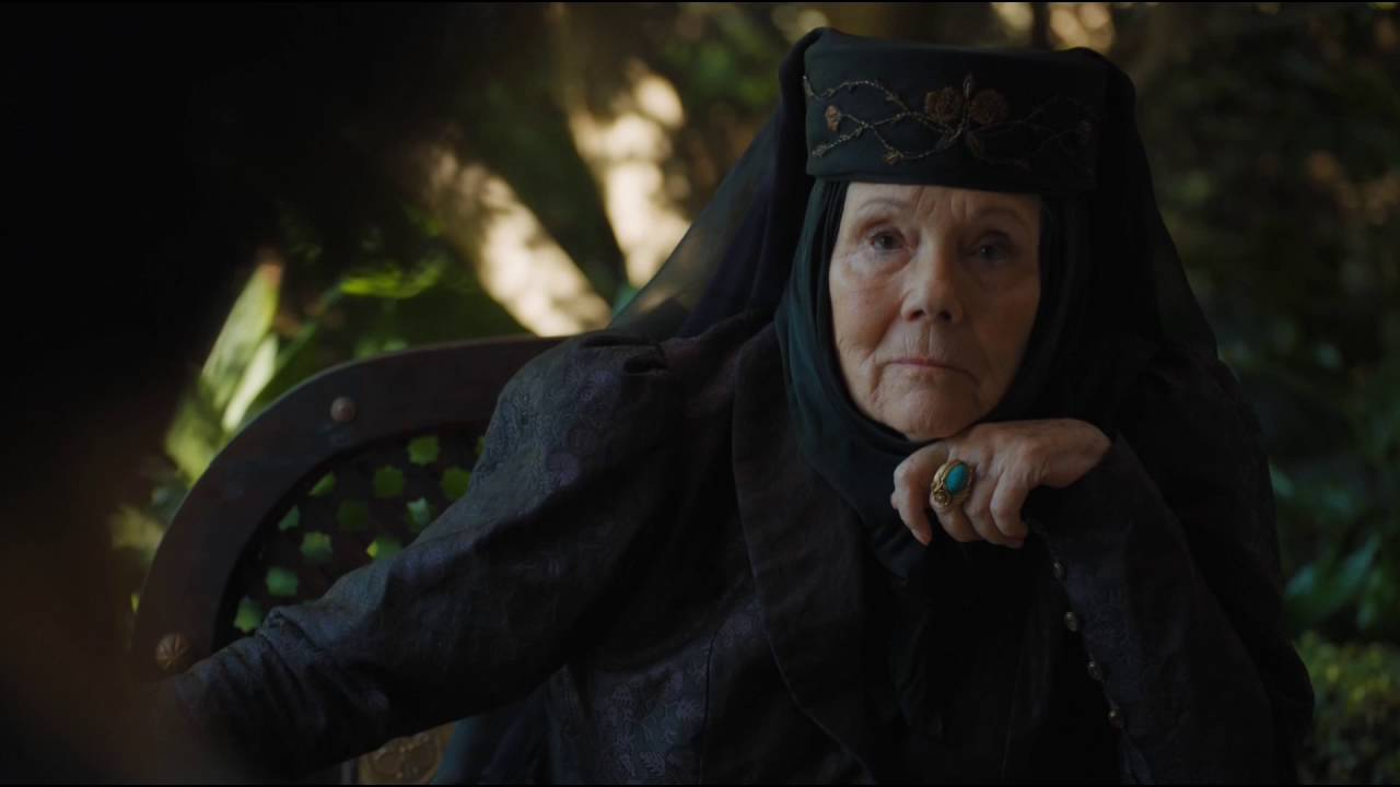 RIP Diana Rigg, beter gekend als Olenna Tyrell uit Game of Thrones