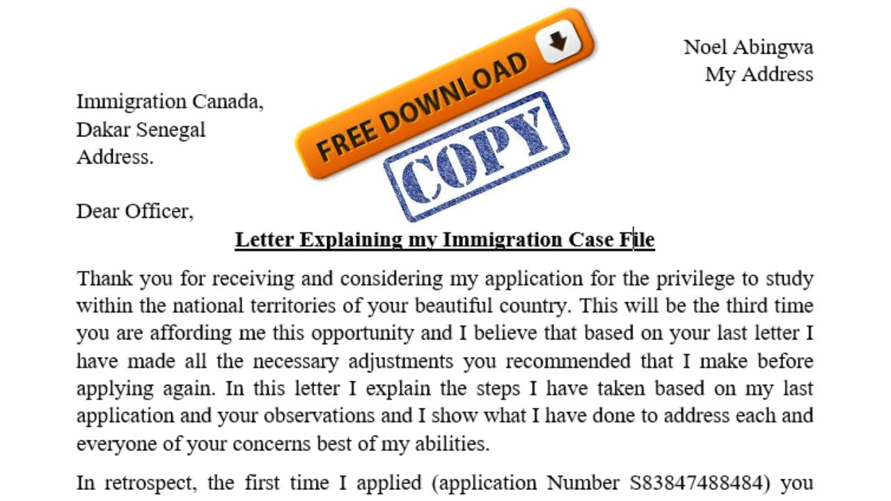 For Canada Visa Format And Sample
