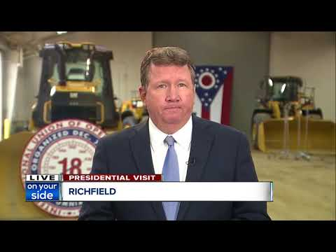 President Trump visits Northeast Ohio to promote infrastructure plan